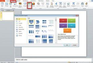 SmartArt Options in PowerPoint