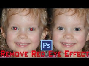 Red Eye Removal Effect with Photoshop