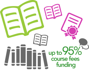 95% course fee funding
